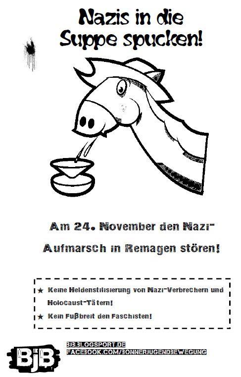 Den Nazis in die Suppe spucken!